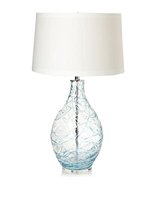 Lighting Accents Hand Blown Glass Table Lamp with Coils (Blue)