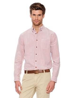 Dockers Camisa Oxford con Botones En Cuello (Rosa)
