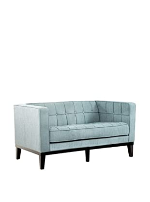 Armen Living Roxbury Loveseat, Spa Blue