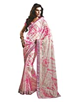 Faux Georgette Saree in Pink Colour for Casual Wear