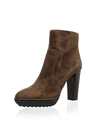 Tod's Women's Suede Ankle Bootie (Brown)