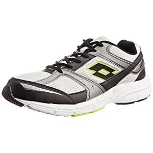 Lotto Men's Antares IV Metal Silver and Black Shoes - 7 UK