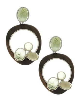 Luxenter Pendientes EA561360 marrón / verde