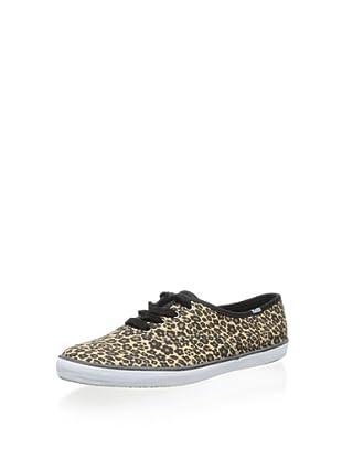 Keds Women's Champion Leopard Fashion Sneaker (Leopard Brown)