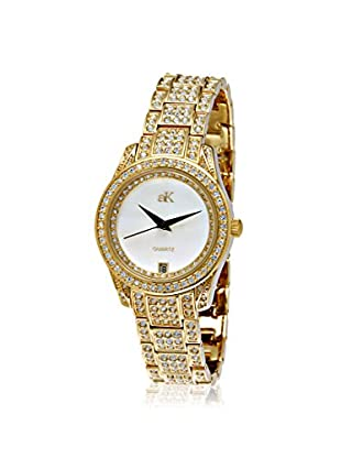 Adee Kaye Women's 9-12LG/CR Gold/Mother-of-Pearl Brass Watch