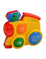 Mee Mee Four Musical Playthings Train Engine, Multi Color