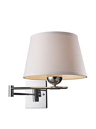 Artistic Lighting Lanza 1-Light LED Swing Arm Sconce, Polished Chrome
