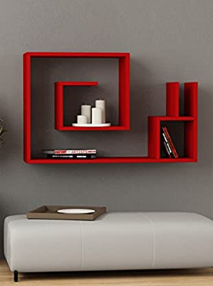 Decortie by Homemania Estante Lumaca (Rojo)