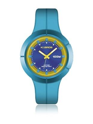 K&BROS Reloj 9573 (Azul Amarillo)