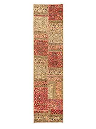 Hand-Knotted Vintage Anatolia Patch Wool Rug, Dark Copper/Khaki, 2' 6