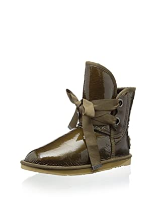 Australia Luxe Collective Women's Bedouin Short Patent Boot (Olive Patent)