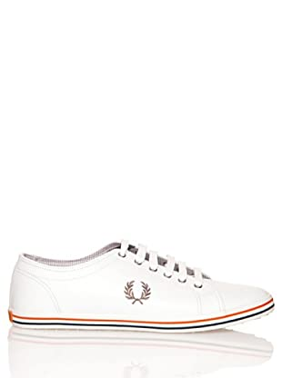 Fred Perry Deportiva Kingston Leather (Blanco / Carbón)
