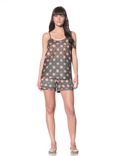 MARNI Women's Printed Camisole (Sea Green/Pink)