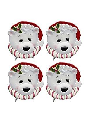 Cosmos Set of 4 Polar Bear Plates