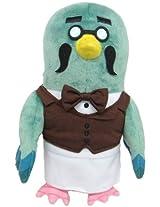 "Sanei Animal Crossing New Leaf Doll Brewster/Master 8"" Plush"