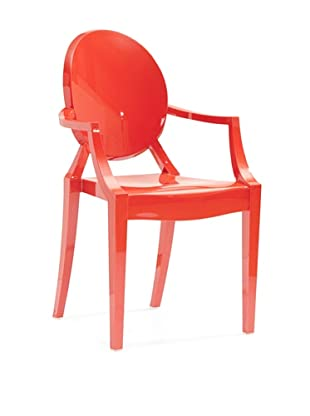 Zuo Set of 4 Anime Stacking Outdoor Dining Chairs (Red)