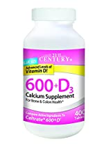 21st Century Calcium 600 +D3 - 400 Tabs