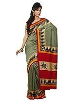 Rani Saahiba Soft Twill Silk Light Green Saree