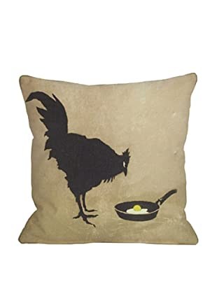 Banksy Chicken and the Egg Pillow