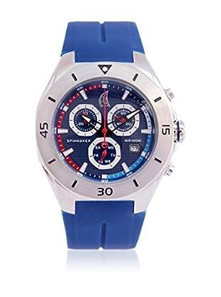 Spinnaker Uhr mit schweizer Quarzuhrwerk Keel blau 43 mm