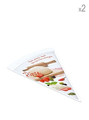 Easy Life Design Set 2 Piatti Pizza in Porcellana 26 x 20 cm
