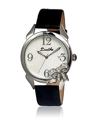 Bertha Uhr mit Japanischem Quarzuhrwerk Bow schwarz 41 mm