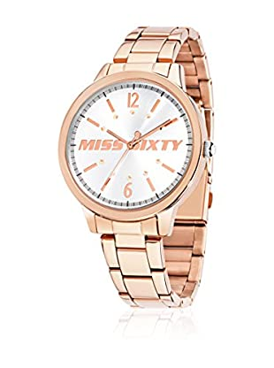 Miss Sixty Quarzuhr Hypnotic silberfarben/rosa 42  mm