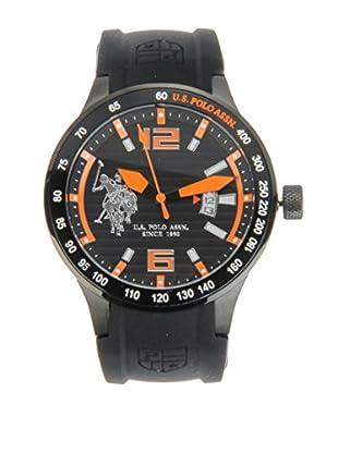 U.S. POLO ASSN. Uhr mit japanischem Quarzuhrwerk Reego schwarz 45 mm