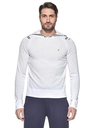 Nautica Jersey Hoodie (Blanco)