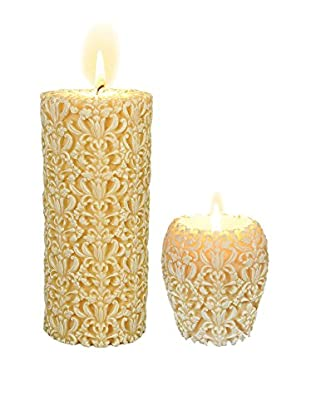 Volcanica Set of 2 Large White Paramount Candles