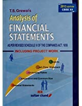 Analysis of Financial Statements - Class XII: As Per Schedule VI of the Companies Act, 1956 (Including Project Work)