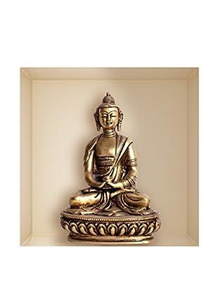 Ambiance Live Wandtattoo Buddha statue (Reusable) mehrfarbig