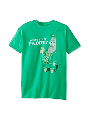 Spongebob Men's Who's Your Paddy Crew Neck Tee (Rush Green)