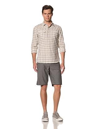 John Varvatos Star USA Men's Point Collar Shirt with Double Pocket (White)