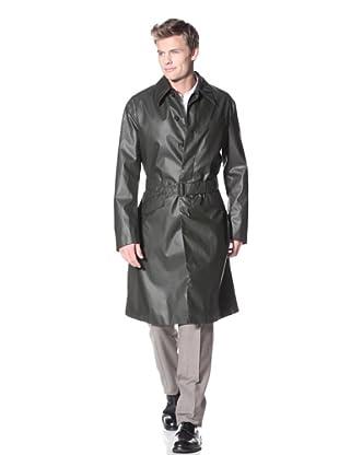 Prada Spalmato Trench Coat (Green)