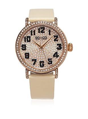 SO & CO New York Uhr mit japanischem Quarzuhrwerk  rosé 40 mm