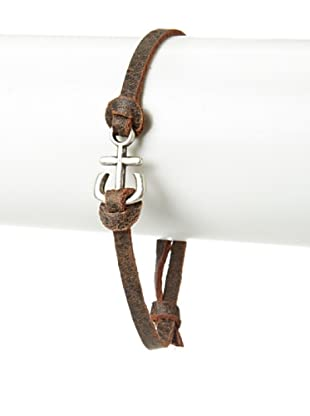 Griffin Chocolate Port Leather Bracelet