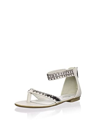 XTI Kid's Studded Sandal with Ankle Strap (Ice)