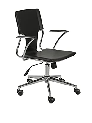 Euro Style Terry Office Chair, Black