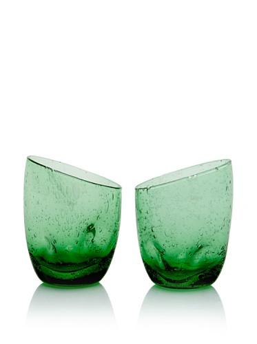 Tivoli Set of 2 Wine Glasses (Green)