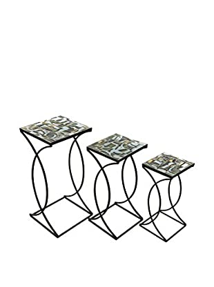 Set of 3 Crowley Mosaic Nesting Tables
