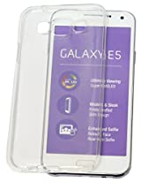 nCase Back Cover for Samsung Galaxy E5 (Transparent)