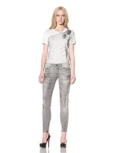 D&G by Dolce & Gabbana Women's Pretty Skinny Jean (Black)