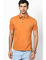 Orange Slim Fit Polo T-Shirt