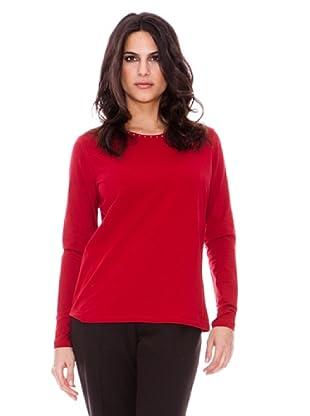 Steilmann Camiseta Brillo Cuello (Rojo)