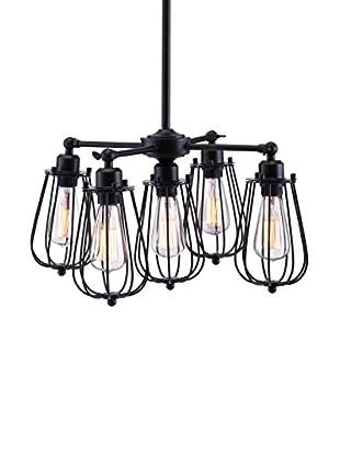 Zuo Porirua Ceiling Lamp, Distressed Black