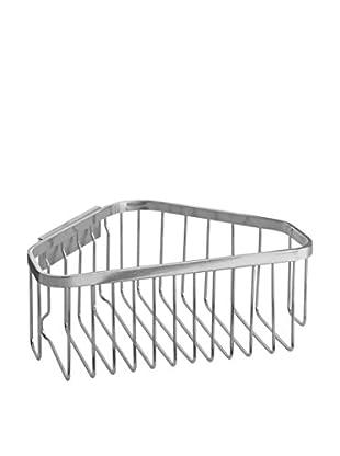 InterDesign Easy Lock Pro Corner Basket, Brushed Stainless Steel