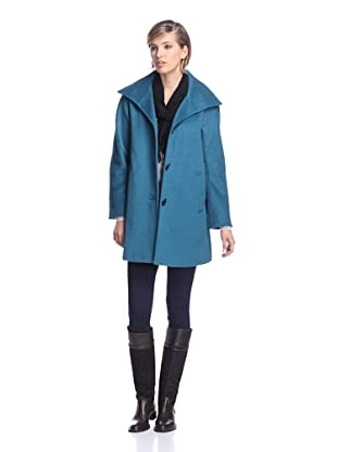 Ellen Tracy Women's A-Line Coat (Teal)