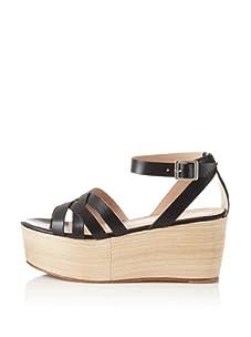 Pour La Victoire Women's Noletta Platform Sandal (Black)