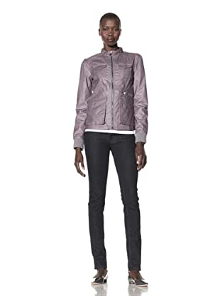 CoffeeShop Women's Waxed Cotton Utility Jacket (Gunmetal)